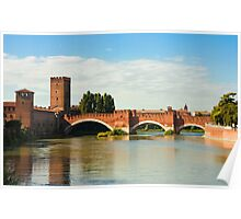The Castelvecchio Bridge in Verona Poster