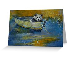 Panda Sailor Greeting Card