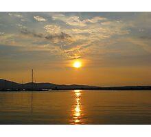 Bulgaria Golden Sunset Sozopol Photographic Print