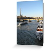 The River Seine in Paris Greeting Card