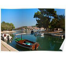 Waterfront view of Trogir in Croatia Poster