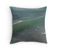 Crystal Clear Wave Movement Throw Pillow