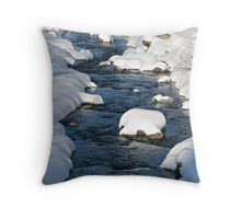 Snowy River view Throw Pillow