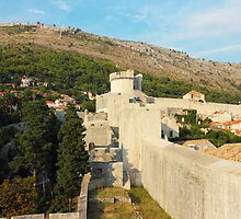 Dubrovnik Fortress Wall of Old Town by kirilart