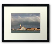 Church of San Giorgio Maggiore after the storm Framed Print