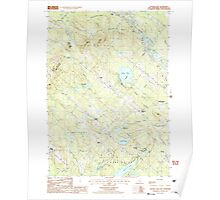 USGS TOPO Map New Hampshire NH Baxter Lake 329478 1987 24000 Poster