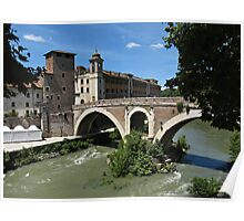 Rome Tiber Island Poster