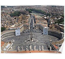 St Peters Square in Vatican Poster