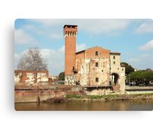The Guelph Tower and Medici Citadel in Pisa Canvas Print