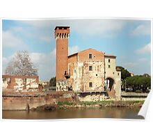 The Guelph Tower and Medici Citadel in Pisa Poster