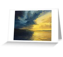 The Sunset of Light and Shadows Greeting Card