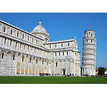 Piazza dei Miracoli with the Leaning Tower in Pisa Photographic Print