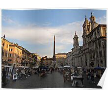 Piazza Navona at Sunset Poster