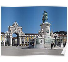 Lisbon Commerce Square Poster