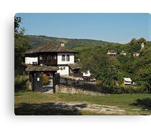 Traditional house in Architectural Preserve Bojenci Canvas Print