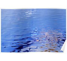 Ripples of Blue Poster