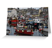 Cornwall Mevagissey Greeting Card
