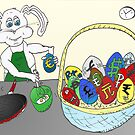 Easter Egg Omlette Bunny Cartoon by Binary-Options