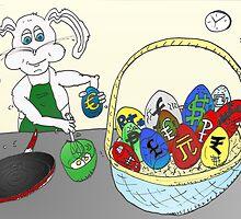 Easter Egg Omlette Bunny Cartoon by Binary-Options