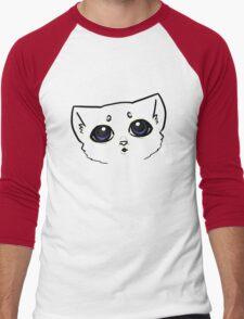 Curious Kitten Men's Baseball ¾ T-Shirt
