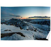 Crinkle Crags & Bow Fell - Sunrise Poster