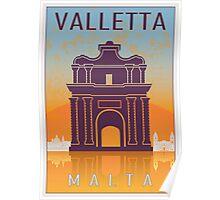 Valletta Vintage poster Poster
