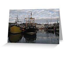 Cornwall Mevagissey harbor Greeting Card