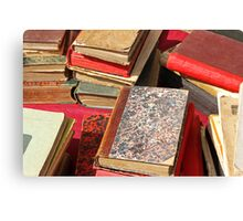 Piles of old books Canvas Print