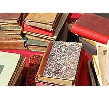 Piles of old books Photographic Print