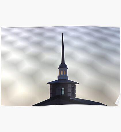 Steeple of Faith Church, Sherman, Texas, USA Poster