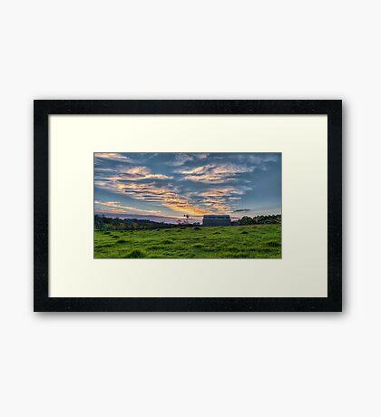 Scratch the Sky Framed Print