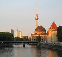 Berlin City View on river Spree by kirilart