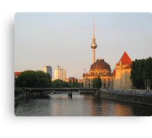 Berlin City View on river Spree Canvas Print
