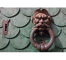 Vintage rusty door knocker in Pisa Italy Photographic Print