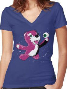 Breaking Bear Women's Fitted V-Neck T-Shirt
