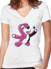 Breaking Bear Women's Fitted V-Neck T-Shirt