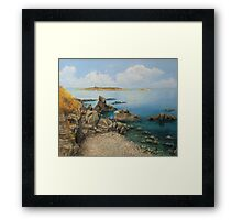 On The Rocks in The Old Part of Sozopol Framed Print
