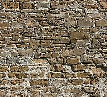 Ancient Stone Wall Background by kirilart