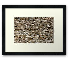 Ancient Stone Wall Background Framed Print