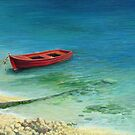 Fishing boat in island Corfu by kirilart