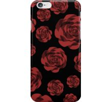 Red Roses on Black iPhone Case/Skin