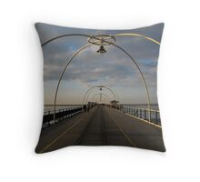 Pier in Southport United Kingdom Throw Pillow