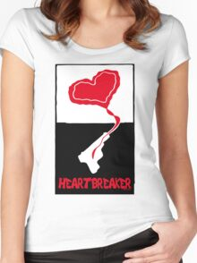 Heartbreaker Graphic Poster Women's Fitted Scoop T-Shirt
