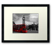 Red Bus London Framed Print
