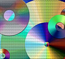 Abstract Binary Disks by perkinsdesigns