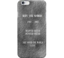 Buffy grave iPhone Case/Skin