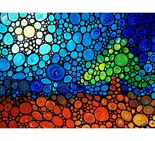 A Day To Remember - Colorful Mosaic Landscape By Sharon Cummings Photographic Print