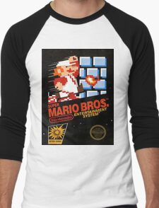 Mario Bros Nes Art Men's Baseball ¾ T-Shirt