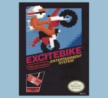 Excite Bike Nes Art Kids Tee