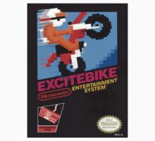 Excite Bike Nes Art by Funkymunkey